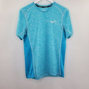 Nike Dri-Fit Sky Blue Workout Shirt Short Sleeves